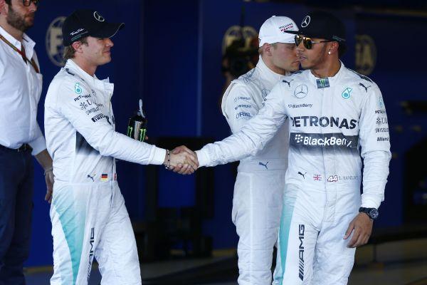 F1 2014 SOTCHI HAMILTON triomphe devant ROSBERG et BOTTAS.