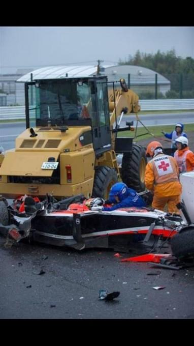 F1 2014 SUZUKA - La MARUSSIA de l infortuné Jules BIANCHI