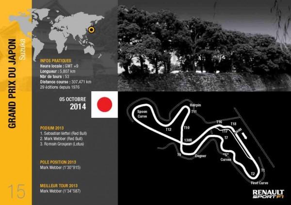 F1 2014 SUZUKA  Le tracé