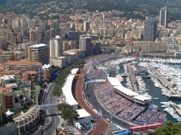 F1  GP DE MONACO Vue depuis la place du PALAIS PRINCIER