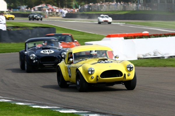 GOODWOOD-REVIVAL-2014-Bill-Bridges-et-Ludo-Lindsay-AC-Cobra-4727cc-de-1963