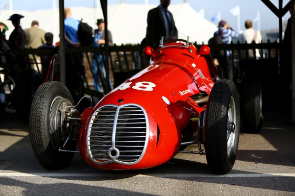 GOODWOOD REVIVAL 2014 - Rainer Ott Maserati 4CLT _ 1.5 Litres de 1948.