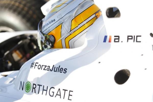 GP2 2014 SOTCHI - ARTHUR PIC comme tous les pilotes de F1 - GP2 et GP3 pensent à JULES BIANCHI