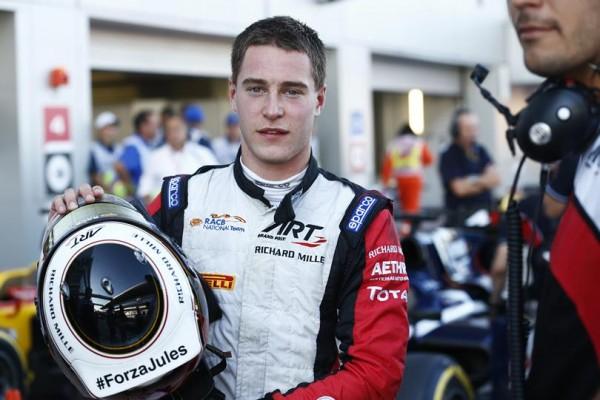 GP2 2014 SOTCHI - Stoffel VANDOORNE comme tous les pilotes de F1 GP2 et GP3 pensent à JULES BIANCHI