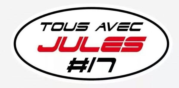 JULES BIANCHI Sticker TOUS AVEC JULES
