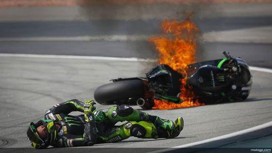 MOTO-GP-2014-SEPANG-La-chute-de-POL-ESPARGARO-du-Team-TECH3