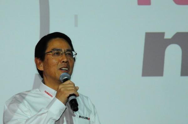 NISSAN-Londres-présentation-programme-Nissan-LMP1-Soichi-Miyatani-Président-de-Nismo-Photo-Patrick-Martinoli.