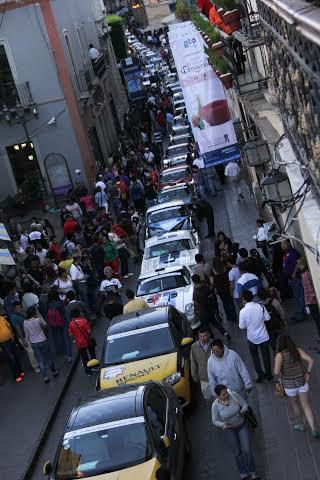 PANAMERICAINE-2014-Guanajuato-arrivée-du-jour-nest-à-l-évidencxe-pas-adaptée-à-une-circulation-aussi-intense.