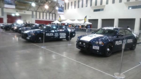 PANAMERICAINE-2014-Même-la-Police-Fédérale a sorti ses voitures neuves pourl'occasion.