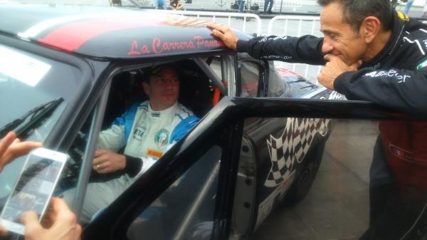 PANAMERICAINE 2014 - Perplexe concernant sa voiture, Erik Comas laissse même s'installer Hilaire Damiron à son bord!