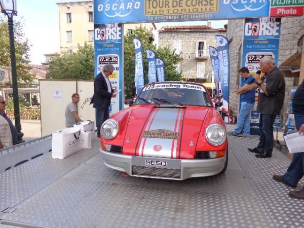 TOUR DE CORSE HISTORIQUE 2014 PORSCHE 911 de Gerard CUYNET et Marc CURRAT - Photo autonewsinfo