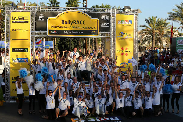 WRC-2013-CATALOGNE-podium-Equipe-VW-Championne du monde des Rallyes