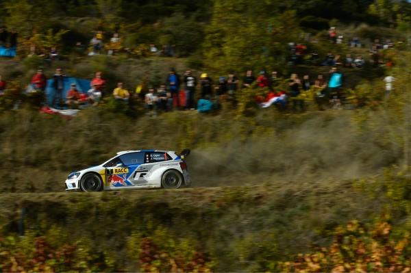 WRC 2014 CATALOGNE -POLO VW de Seb OGIER et Julien INGRASSIA.