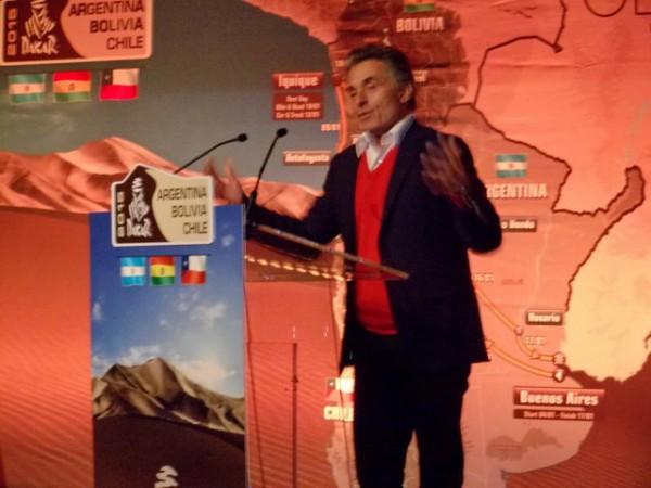 DAKAR 2015 - Presentation Pavillon GABRIEL le 19 novembre GEGE HOLTZ toujours aussi enthousiaste