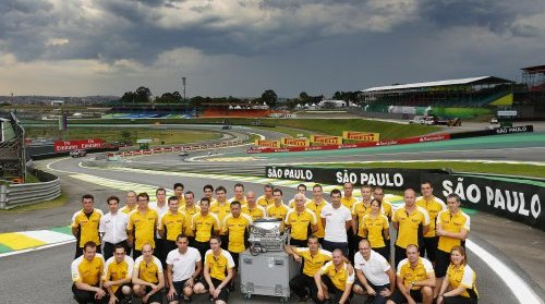 F1 2013 SAO PAULO- DERNIER SUCCES A SAO PAULO POUR LE MOTEUR V8 RENAULT ce dimanche 24 novembre 2013 sur la piste INTERLAGOS.
