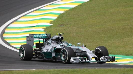 F1 2014 SAO PAULO - La MERCEDES de NICO ROSBERG.
