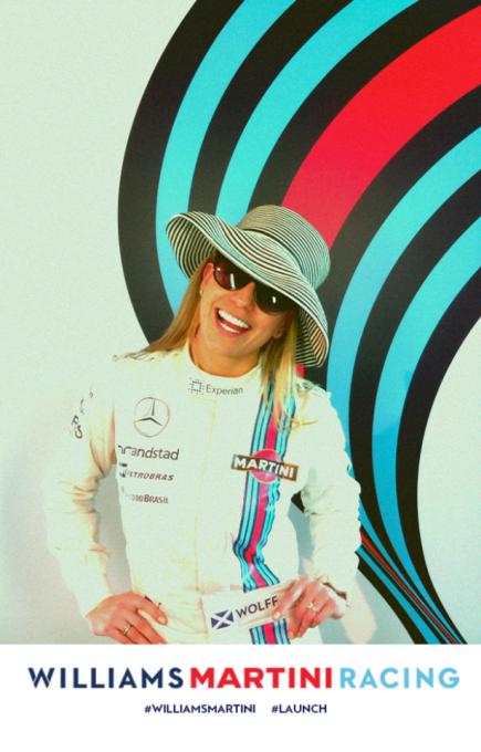 F1 2014 SUSIE WOLF la pilote reserviste du Team WILLIAMS MARTINI.