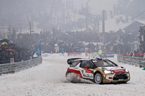 WRC 2013 MONTE CARLO LOEB ELENA DANS LE TURINI AVEC LA DS3 CITROEN.