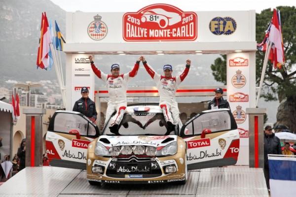 WRC 2013 MONTE CARLO LOEB ELENA VICTORIEUX AVEC LA DS3 CITROEN