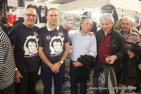 SALON MOTO LEGENDE 2014 - Retrouvailles avec Guy Bertin, Dominique Pernet, Jean Paul Boinet
