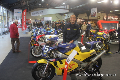 SALON MOTO LEGENDE 2014 - Stephane le fils de l'inoubliable PIPO Baldit désormais aux manettes chez NATIONAL MOTOS
