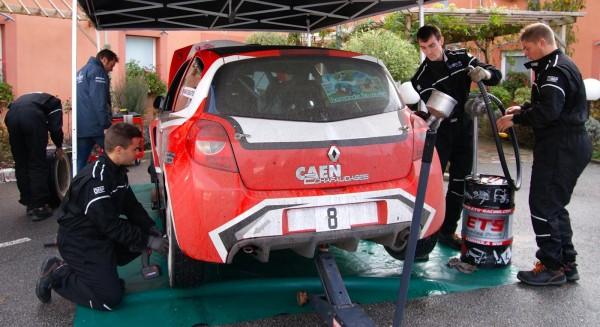 AUTO SPORT ACADEMY Les mecaniciens au rallye de NORMANDIE.