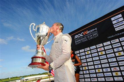 COURSE DES CHAMPIONS 2014 A la BARBADE -David COUILTHARD le vainqueur.