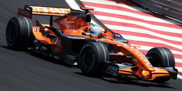 F1 2007 GP DU BREIL - Adrian Sutil avec la SPYKER.