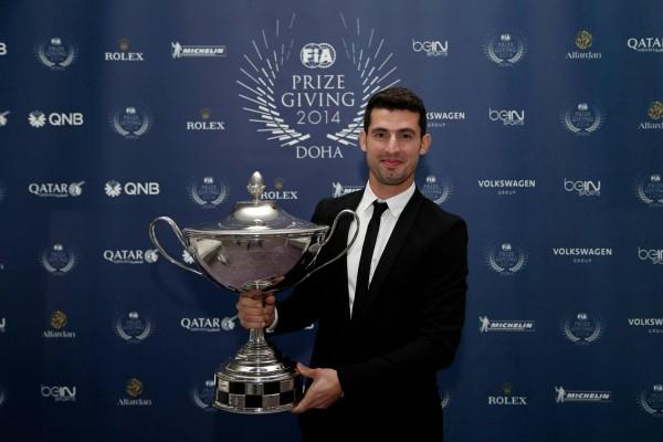 FIA 2014 Remise des Prix a DOHA au QATAR Jose Maria LOPEZ CHAMPION du monde des voitures de tourisme WTCC.