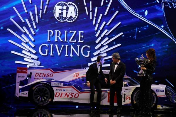 FIA 2014 Remise des Prix a DOHA au QATAR LA TOYOTA TS040 CHAMPIONNE DU MONDE D'ENDURANCE WEC.j