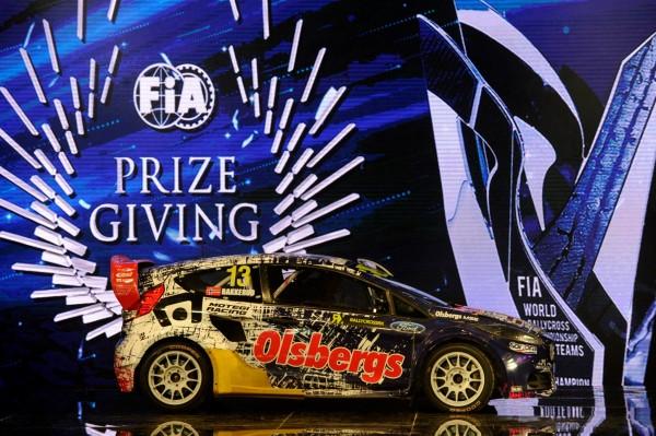 FIA 2014 Remise des Prix a DOHA au QATAR  La   CHAMPIONNE DU MONDE par equipes de RALLYCROSS