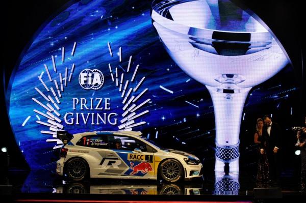 FIA 2014 Remise des Prix a DOHA au QATAR - La VW POLO CHAMPIONRE DU MONDE des Rallyes WRC