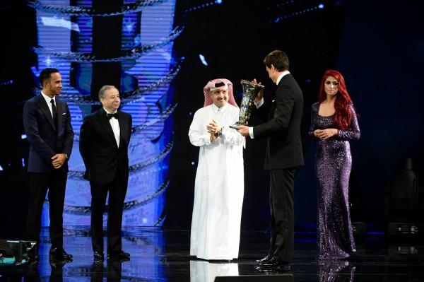 FIA 2014 Remise des Prix a DOHA au QATAR - MERCEDES et Toto WOLL recompensé pour le double titre en F1.j