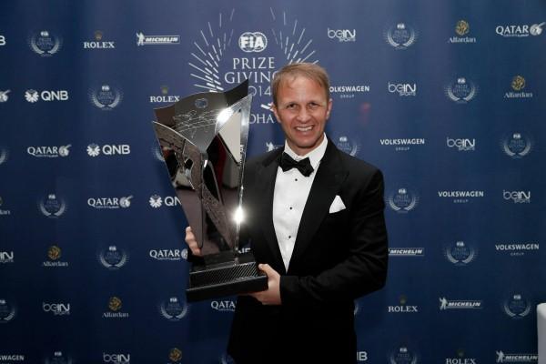 FIA-2014-Remise-des-Prix-a-DOHA-au-QATAR-Petter-SOLBERG-CHAMPION-du-Monde-de-RALLYCROS