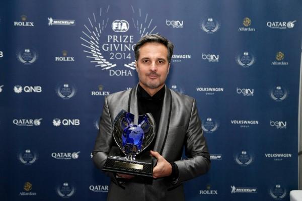 FIA 2014 Remise des Prix a DOHA au QATAR Yvan MULLER Vice CHAMPION du monde des voitures de touriseme WTCC.j