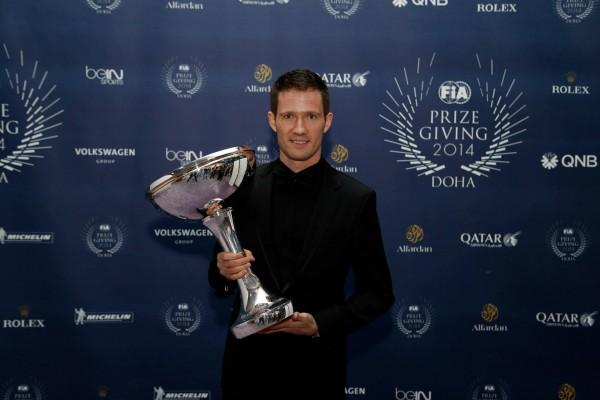 FIA-2014-Remise-des-Prix-a-DOHA-au-QATAR-le-vendredi-5-decembre-Sebastien-OGIER-CHAMPION-du-Monde-des-RALLYES-WRC