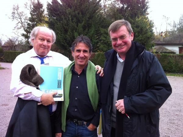 JJ Delaruwiere avec Cyril Neveu eyt Gilles Gaignault, lancement de la RENAULT FLUENCE à Orléans en novembre 2011