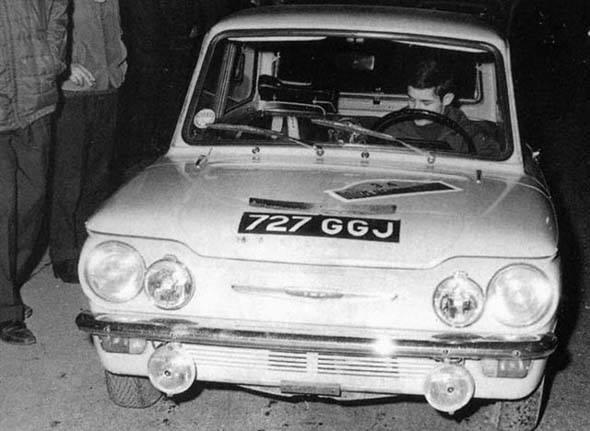 JACKY-ICKX-Rallye-de-HUY-avec-la-HILLMAN IMP-en-1964