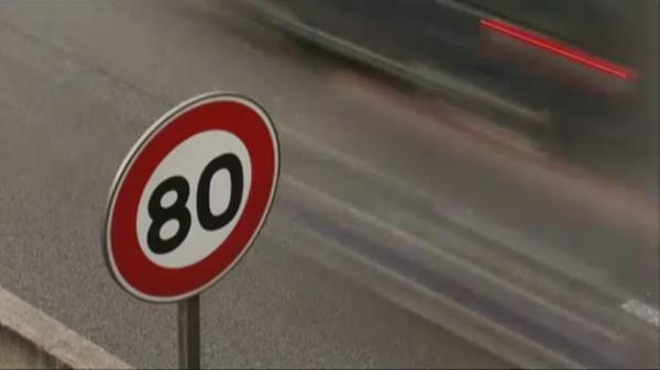 LIMITATION DE VITESSE Panneau 80