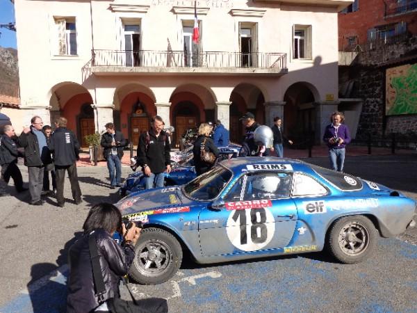 MONTE CARLO HISTORIQUE 2013 Alpine Num 18 ANDRUET depart Col de TURINI avec GG.