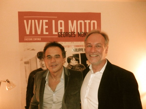 Soirée MONNERET - Philippe Monneret et l'éditeur du livre Alexandre Pierquet.