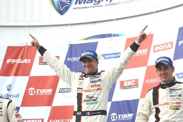 PORSCHE-CARRERA-CUP-2014-MAGNY-COURS-Come-LEDOGAR-le-double-vainqueur-des-deux-courses-Photo-Claude-MOLINIER