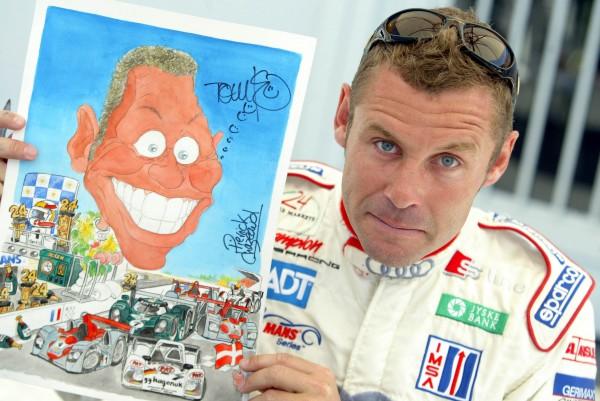 Tom  KRISTENSEN vu par le trés réputé caricaturiste automobile Pierrick CHAZEAUD