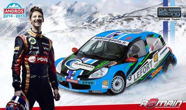 TROPHEE ANDROS 2014-2015 - ROMAIN GROSJEAN de retour avec le DA Racing a ALPE D HUEZ.
