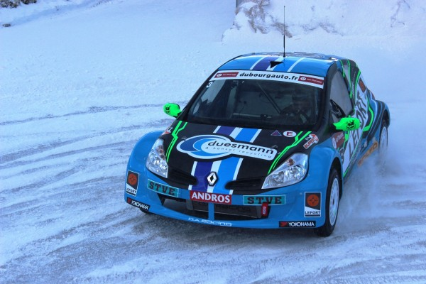 TROPHEE ANDROS 2014-2015 VAL THORENS- CLIO III de Jean Baptiste DUBOURG du DA Racing- Photo JEFF DUBY