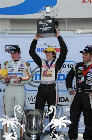 VAUTIER-SEBRING-Podium-puis CHAMPION Mazda Séries 2011