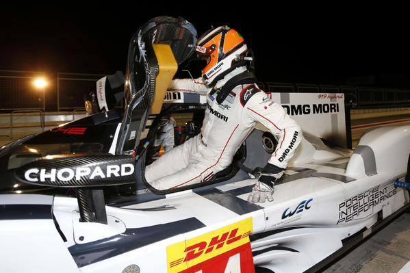 WEC 2014 MOTORLAND - Nico HULKNEBGER debute ses essais au volant de la PORESCHE 919.