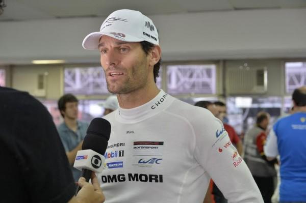 WEC 2014 SAO PAULO Interview du poleman avec Timo BERNHARD Mark WEBBER - Photo Max MALKA.j