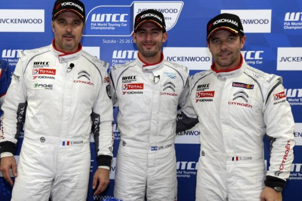 WTCC-2014-SUZUKA-Les-trois-CHAMPIONS-DU-MONDE-de-l-equipe-CITROEN