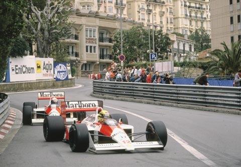F1 -Grtand Prix de MONACO- les McLAREN HONDA de Senna et Prost -Photo Bernard BAKALIAN
